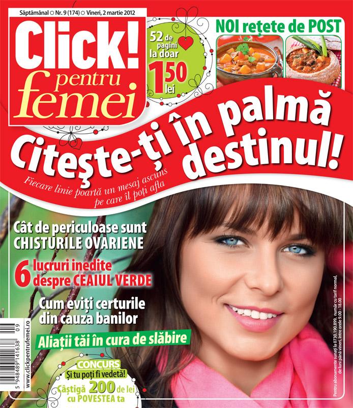 Click! pentru femei ~~ Noi retete de post ~~ 2 Martie 2012 (nr. 9)