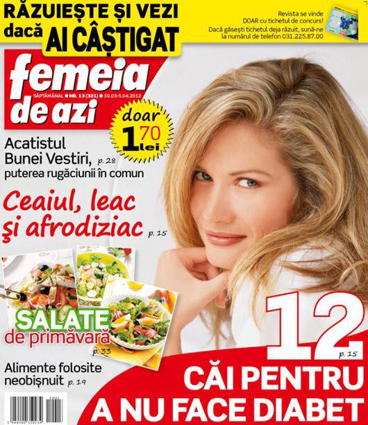 Femeia de azi ~~ Ceaiul, leac si afrodiziac ~~ 30 Martie 2012 (nr. 13)