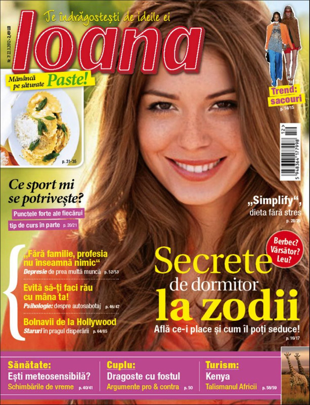 Ioana ~~ Secrete de dormitor la zodii ~~ 22 Martie 2012 (nr. 7)