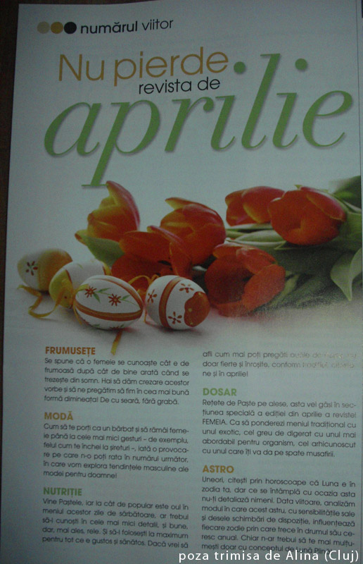 Promo FEMEIA. editia Aprilie 2012