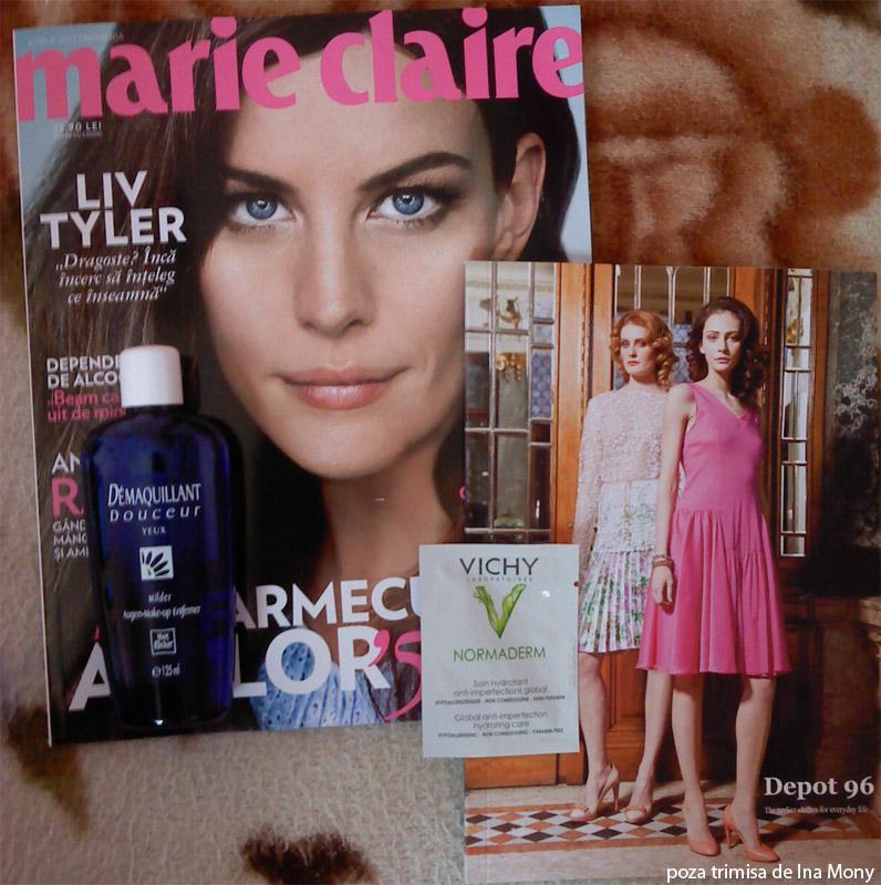 Marie Claire ~~ Cadou Yves Rocher si inserturi ~~ Aprilie 2012