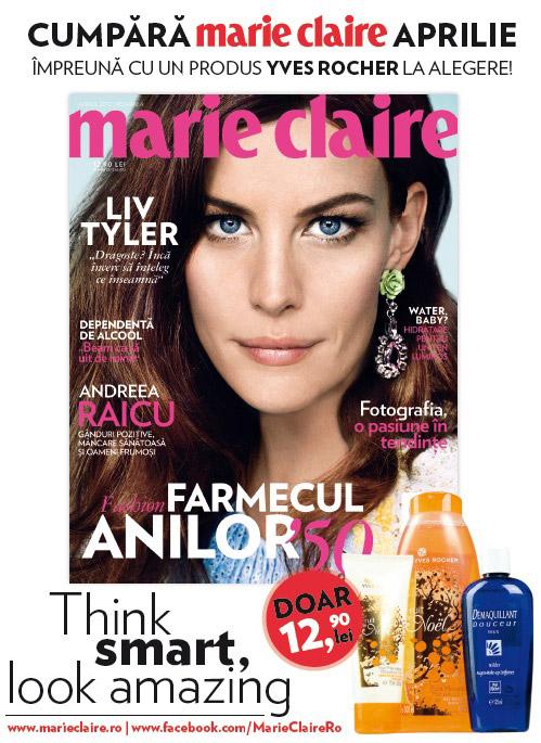 Promo Marie Claire Romania editia Aprilie 2012