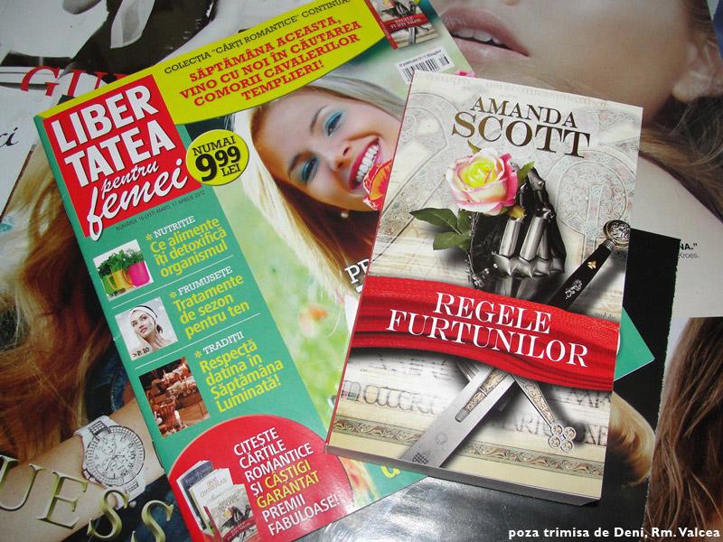 Libertatea pentru femei impreuna cu o carte din Colectia Cartile Romantice scrisa de Amanda Scott ~~ 17 Apr 2012  ~~ Pret: 10 lei