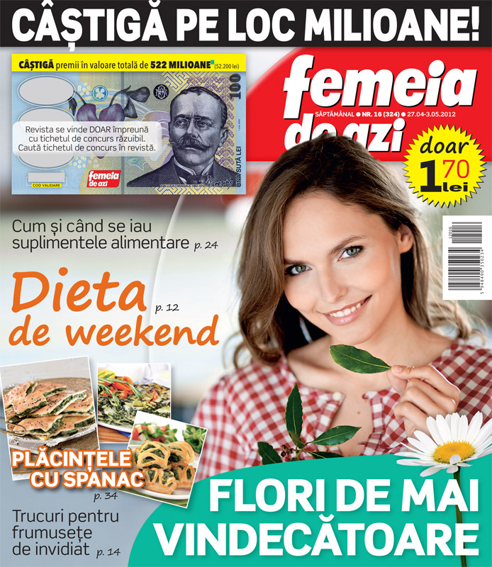 Femeia de azi ~~ Flori de mai vindecatoare ~~ 27 Aprilie 2012 (nr. 16)