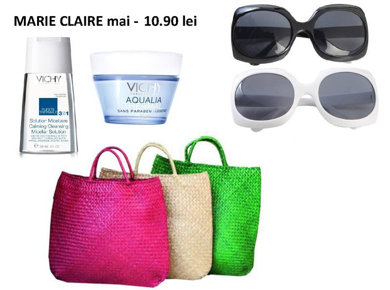 Cadourile editiei de Mai a revistei Marie Claire ~~ Pret: 10,90 lei