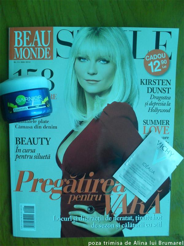 Beau Monde Style ~~ Cadou Garnier si insert Vichy Idealia ~~ Mai 2012