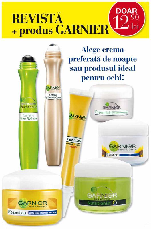 Promo cadoul editiei de Mai a revistei Beau Monde Style: produse Garnier Skin Naturals pentru ingrijirea ochilor si a tenului ~~ Pret: 12,90 lei