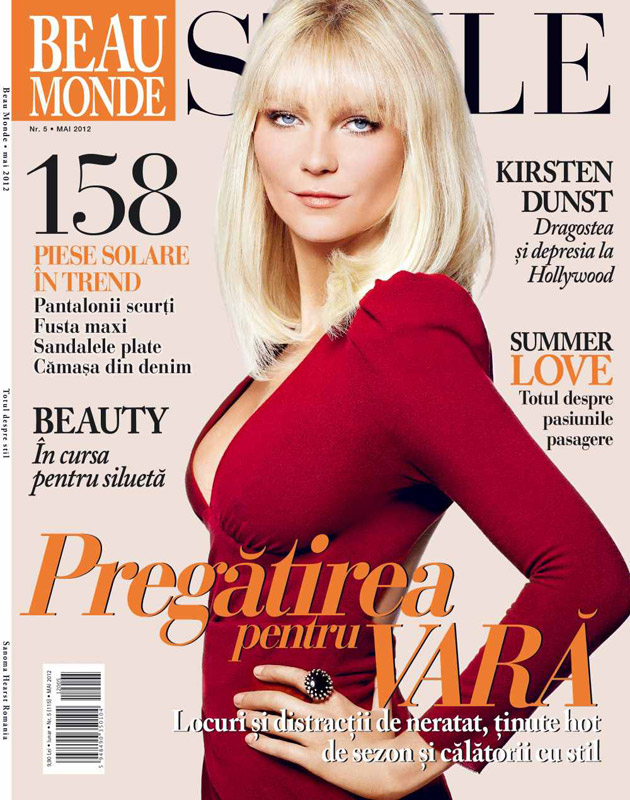 Beau Monde Style ~~ Cover girl: Kirsten Dunst ~~ Mai 2012