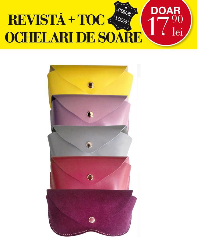 Promo cadoul editiei de Mai a revistei Beau Monde Style: toc din piele pentru ochelari ~~ Pret: 17,90 lei