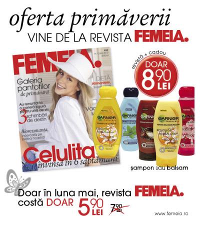 Promo FEMEIA. si cadourile Garnier ~~ Mai 2012 ~~ Pret: 8,90 lei