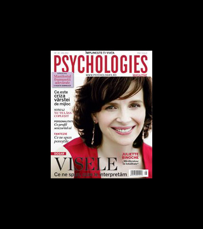 Psychologies Magazine Romania ~~ Cover girl: Juliette Binoche ~~ Mai 2012