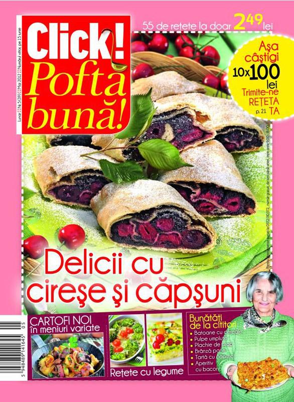 Click! Pofta Buna ~~ Delicii cu cirese si capsuni ~~ Mai 2012