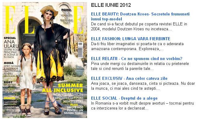 Promo ELLE editia Iunie 2012