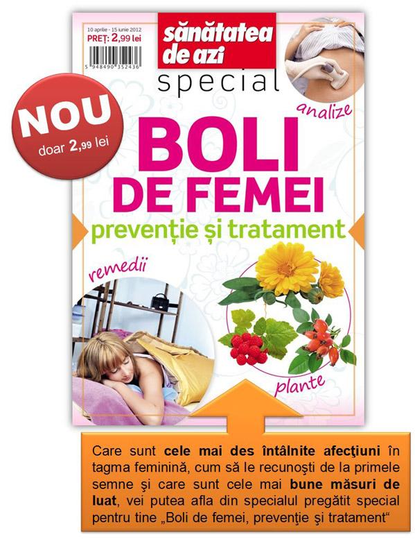 Special Sanatatea de azi: Boli de femei ~~ 10 Aprilie - 15 Iunie 2012