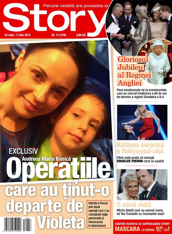 Story ~~ Coperta: Andreea Marin Banica ~~ 22 Iulie 2012 (nr. 13)