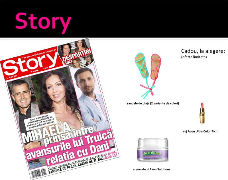 Story si cadourile din editia din 6 Iulie 2012 ~~ Pret revista+cadou: 7 lei