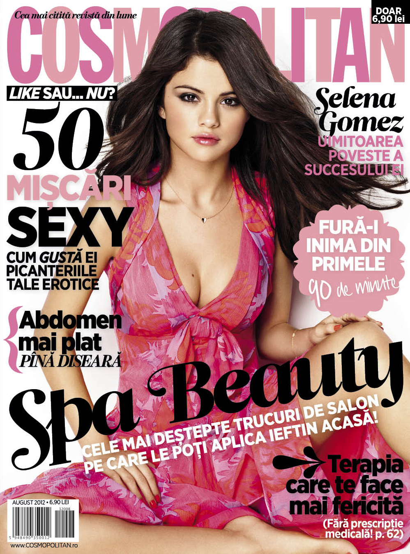 Cosmopolitan Romania ~~ Cover girl: Selena Gomez ~~ August 2012