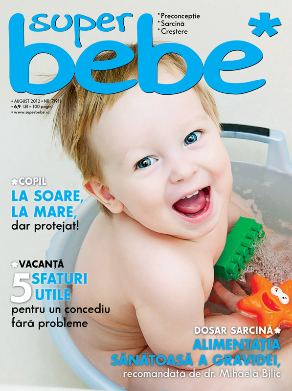 Revista Superbebe ~~ Alimentatia sanatoasa a gravidei ~~ August 2012