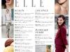 Cuprinsul editiei de August a revistei ELLE Romania ~~ Pagina 2