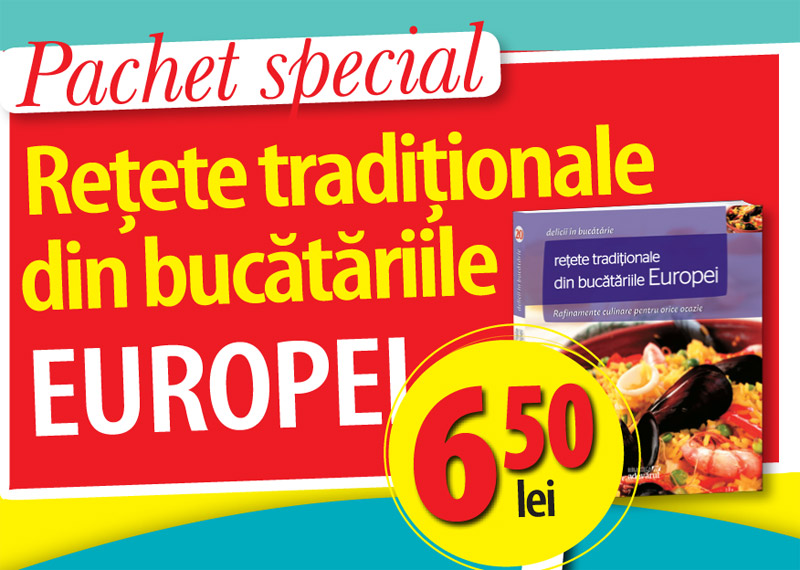 Cartea RETETE TRADITIONALE DIN BUCATARIILE EUROPEI ~~ impreuna cu revista Click! pentru femei din 17 August 2012 ~~ Pret revista+carte: 6,50 lei
