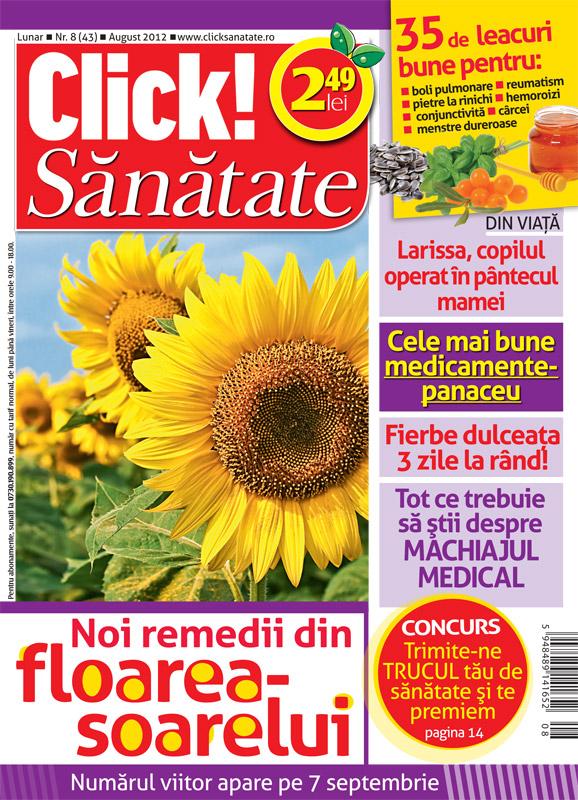 Click! Sanatate ~~ Noi remedii din floarea-soarelui ~~ August 2012