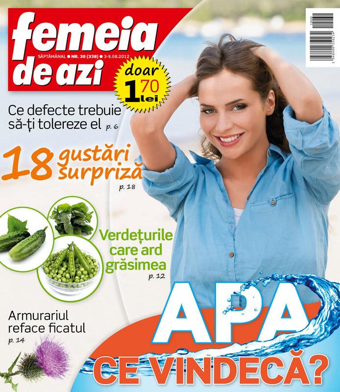 Femeia de azi ~~ Verdeturile ce ard grasimile ~~ 3 August 2012 (nr. 30)