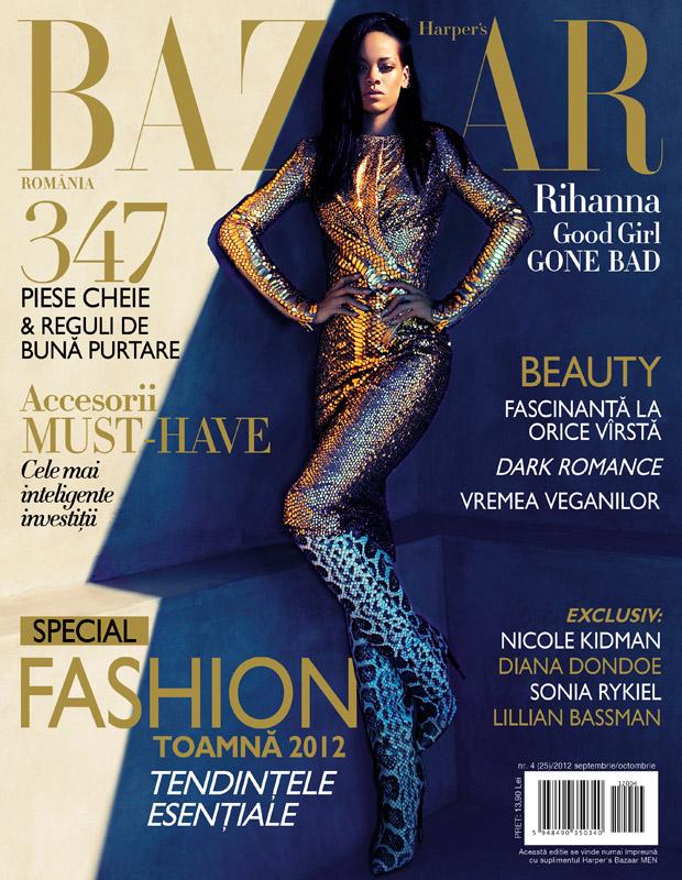 Harper\'s Bazaar Romania ~~ Cover girl: Rihanna ~~ Septembrie-Octombrie 2012