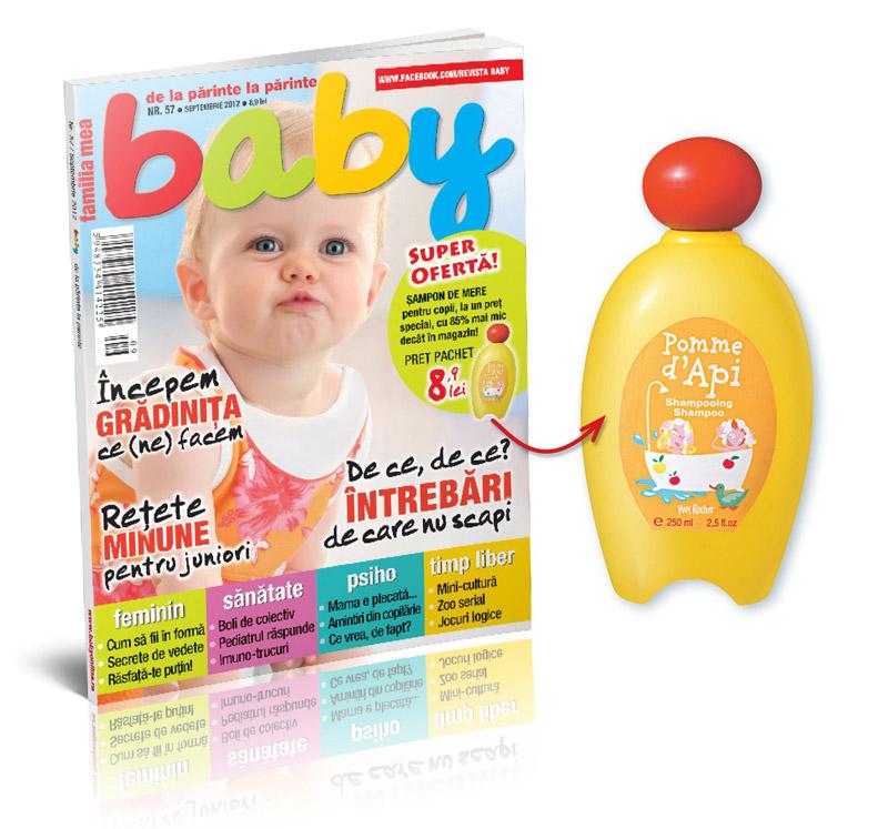 Revista BABY ~~ Promo cadou sampon Yves Rocher Pomme D\'Api ~~ Septembrie 2012 ~~ Pret revista+cadou: 8,90 lei