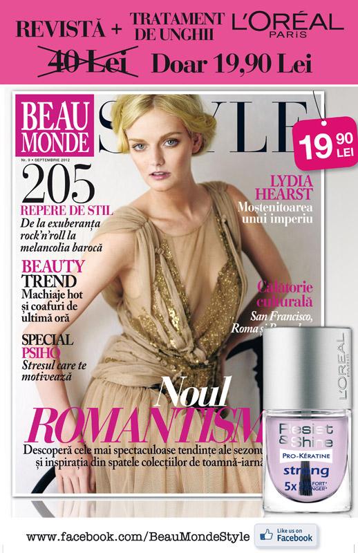 Promo Beau Monde Style ~~ Cadou: L\'Oreal Paris Resist & Shine Pro-Keratine Strong ~~ Septembrie 2012