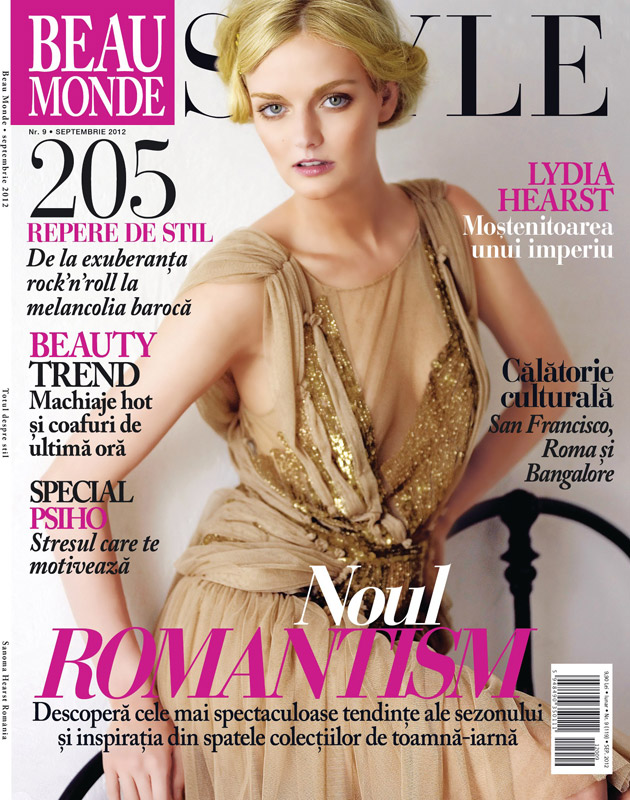 Beau Monde Style ~~ Cover girl: Lydia Hearst ~~ Septembrie 2012