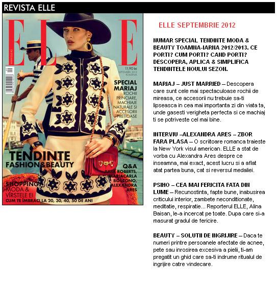 Promo ELLE Romania editia Septembrie 2012