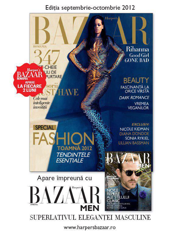 Promo Harper\'s Bazaar Romania si Harper\'s Bazaar MEN ~~ Septembrie-Octombrie 2012