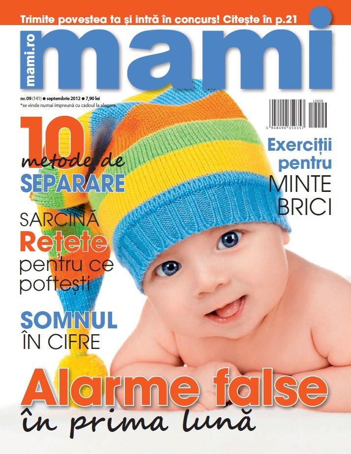 Revista MAMI ~~ Fiecare numar are un cadou la alegere ~~ Septembrie 2012 ~~ Pret revista+cadou: 7,90 lei