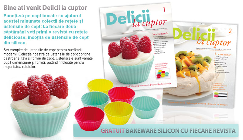 Revista DELICII LA CUPTOR ~~ Promo primul si al doilea numar
