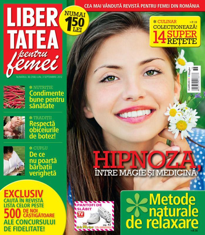 Libertatea pentru femei ~~ Condimente bune pentru sanatate ~~ 3 Septembrie 2012 (nr. 36)