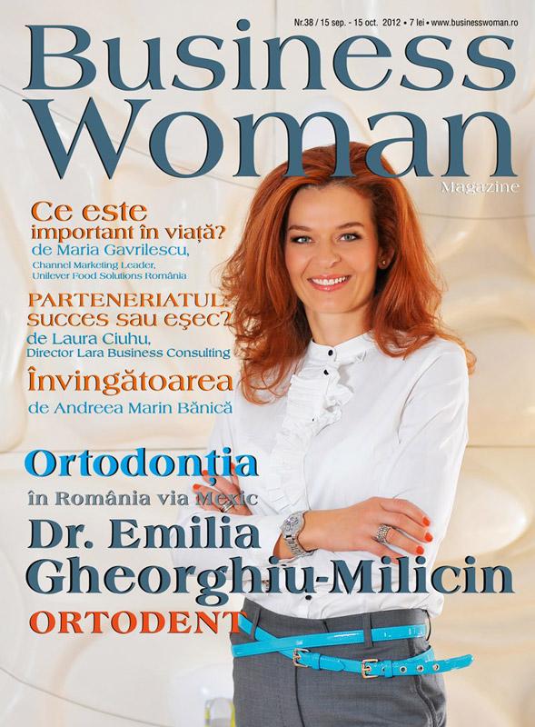 Business Woman Magazine ~~ Coperta: dr. Emilia Gheorghiu-Milicin ~~ 15 Septembrie-15 Octombrie 2012