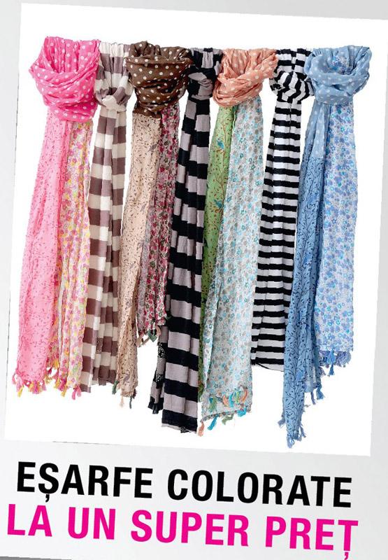 Esarfe colorate, cadoul revistei JOY ~~ Octombrie 2012 ~~ Pret revista+cadou: 13 lei