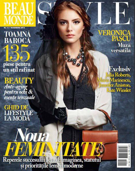 Beau Monde Style ~~ Coperta: Valentina Pascu ~~ Noiembrie 2012