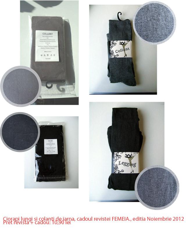 Detalii despre ciorapii lungi si colantii de toamna de la FEMEIA. ~~ Noiembrie 2012 ~~ Pret: 10,90 lei
