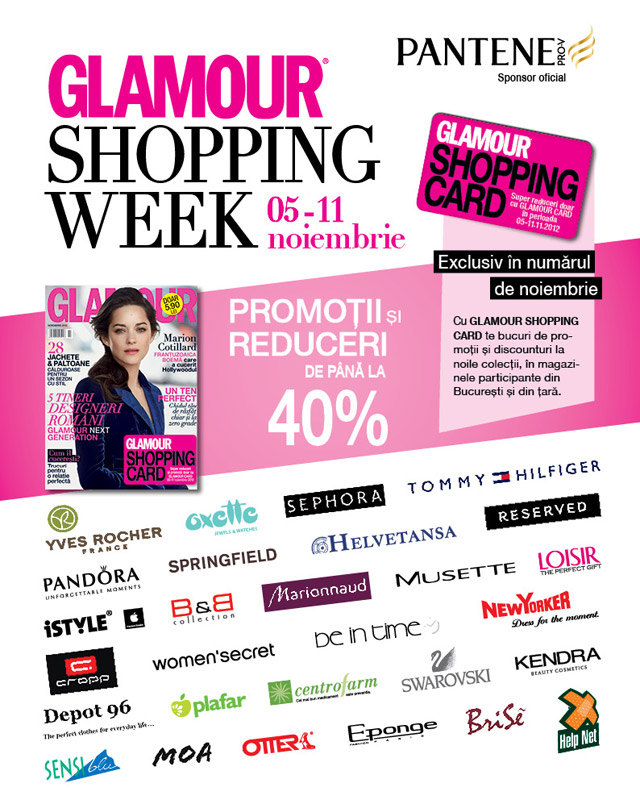 GLAMOUR Shopping Card ~~ ~~ 5-11 Noiembrie 2012