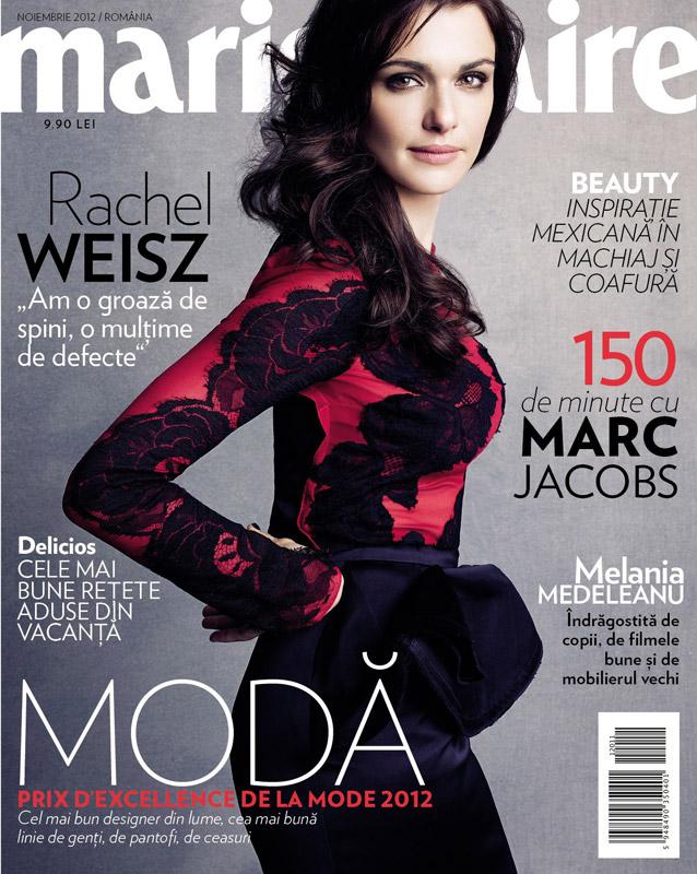 Marie Claire Romania ~~ Cover girl: Rachel Weisz ~~ Noiembrie 2012