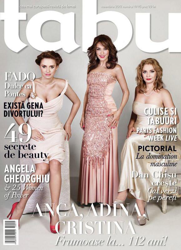 TABU ~~ Coperta: Anca Turcasiu, Adina Buzatu si Cristina Cioran ~~ Noiembrie 2012