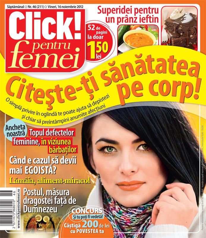 Click! pentru femei ~~ Topul defectelor feminine, in viziunea barbatilor ~~ 16 Noiembrie 2012 (nr. 46)
