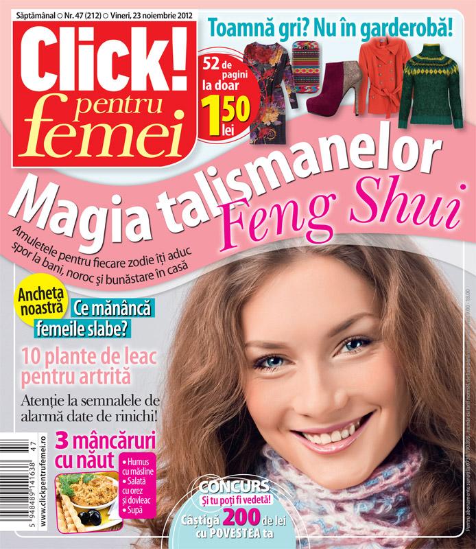 Click! pentru femei ~~ Magia talismanelor Feng Shui ~~ 23 Noiembrie 2012