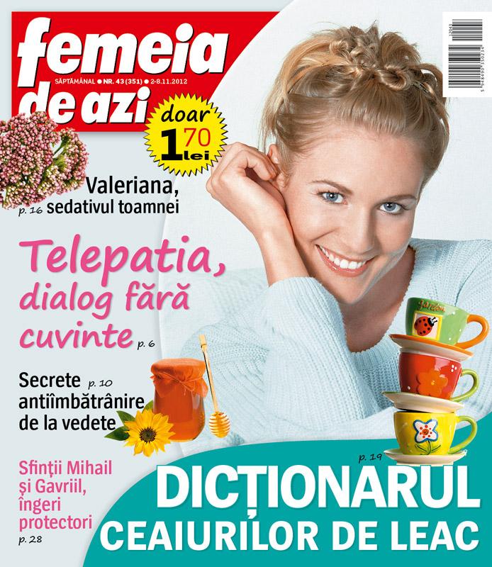 Femeia de azi ~~ Dictionarul ceaiurilor de lea ~~ 2 Noiembrie 2012