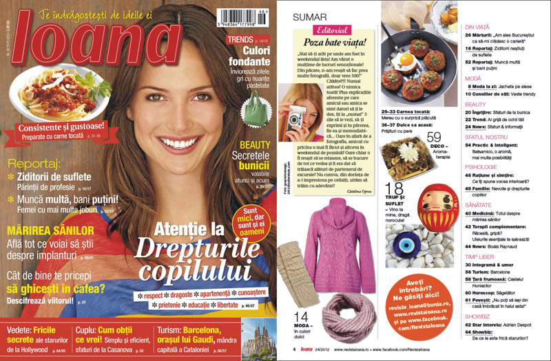 Revista Ioana ~~ Atentie la drepturile copilului ~~ 15 Noiembrie 2012 (nr. 24)