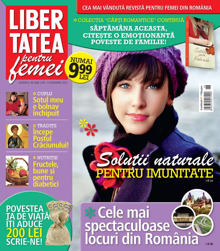 Libertatea pentru femei ~~ Solutii naturale pentru imunitate ~~ 12 Noiembrie 2012