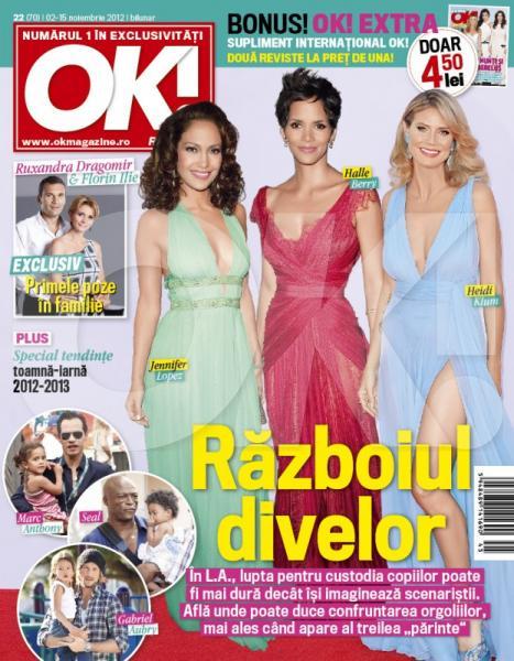 OK! Magazine Romania ~~ Cover story: Razboiul divelor ~~ 2 Noiembrie 2012