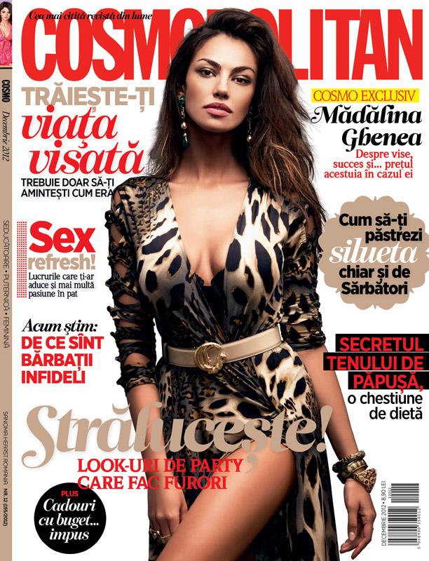 Cosmopolitan Romania ~~ Coperta: Madalina Ghenea ~~ Decembrie 2012