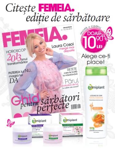 Promo FEMEIA. si cadourile de la Elmiplant, Decembrie 2012 ~~ Pret pachet: 10,90 lei